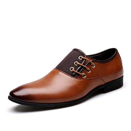 Wenjhen Chaussures en cuir pour homme Bout Pointu Mariage Professionnel Habillé Classique noir