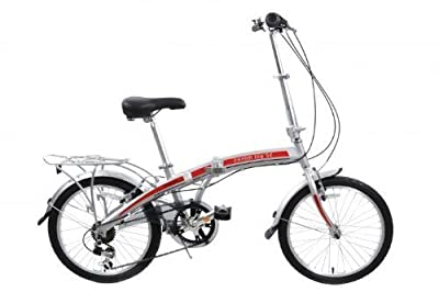 "Pakka Lite Se 20"" Wheel Six Speed Lightweight Alloy Folding Bike With Incredible £120 Off Rrp Sale Price"