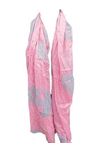 (groß& klein Angry Tormented Totenkopf Aufdruck Punk Gothik Piraten groß Mode Damen weicher Schal 170cmx100cm - Versand aus London von fat-catz-copy-catz - Pink Groß& klein Schädel, 170cmx100cm)