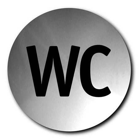 """Blomus Signo 68151 - Cartel para puerta con mensaje """"WC"""""""