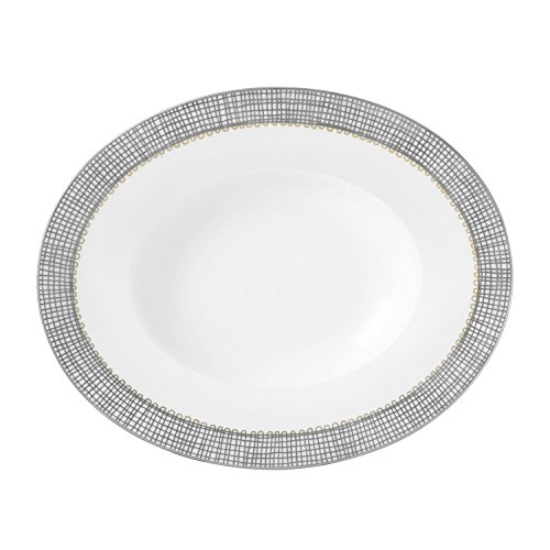 Wedgwood Gilded Weave Platinum Open Vegetable, 9.75 by Wedgwood -