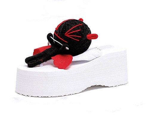 Alta con la femmina flip flop sandali scarpe pendio spesso della crosta con sandali e ciabatte selvatici US6 / EU36 / UK4 / CN36