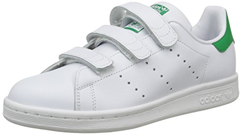 adidas Stan Smith, Sneakers Basses garçon, Blanc (Running White/Running White/Fairway), 36 2/3 EU (UK child 4 Enfant UK)