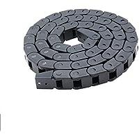 UEETEK Schleppkette für 3D-Drucker, halb geschlossener Kunststoffkabel-Drahtträger, 7 x 7 mm