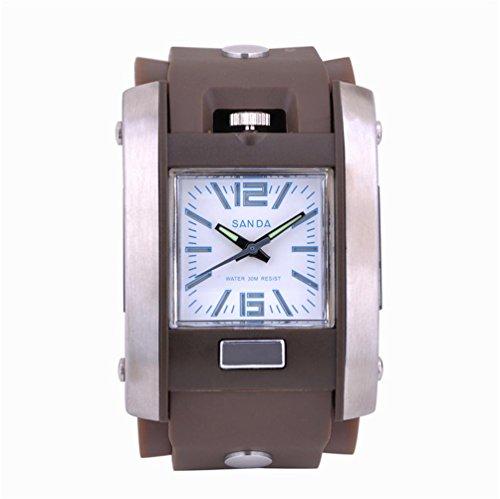 Sport Freizeit kinetic wasserdichte digitale Uhren , coffee color