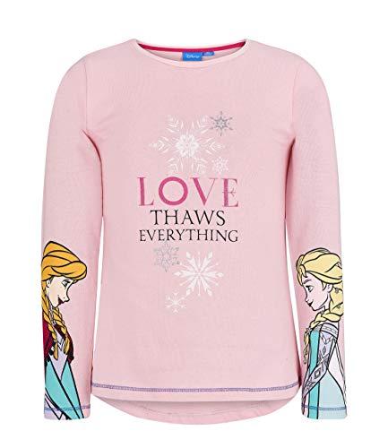 (Disney La reine des neiges Mädchen T-Shirt 2004, Pink Rose, 10 Jahre)