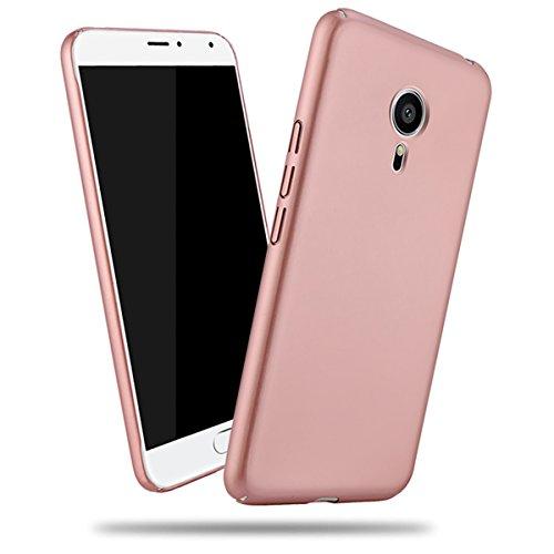 Happon Meizu Pro 5 Hülle, [Ultra Slim] Schutzhülle Cover Premium Stoßdämpfung Stoßfänger und Anti-Scratch zurück Fall für Meizu Pro 5 (Rose Gold)