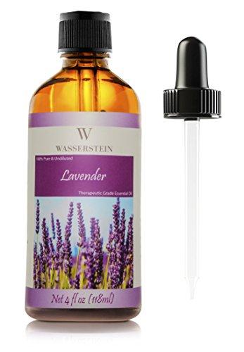 Lavendel ätherisches Öl (118 ml/4 OZ) für Aromatherapie, 100% pures ätherisches Öl (Lavandula Angustifolia) von Wasserstein (4 Oz, Lavendel)