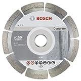 Bosch Professional 10 Stück Diamanttrennscheibe (für Beton, Ø: 150 mm, BohrungØ: 22,23 mm, Zubehör für Winkelschleifer)
