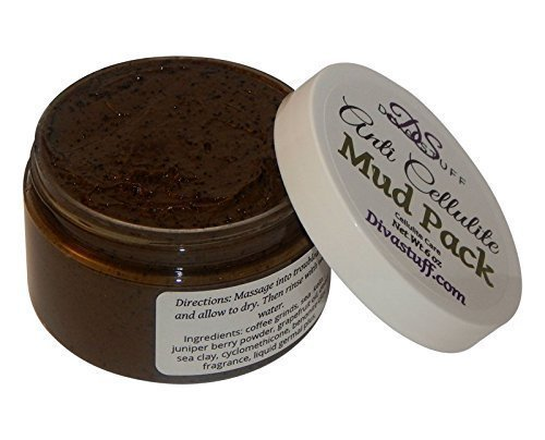 Anti Cellulite Mud Pack With Dead Sea Clay, Coffee Grinds, Fenugreek, Juniper & More By Kym's Diva Stuff by Diva Stuff