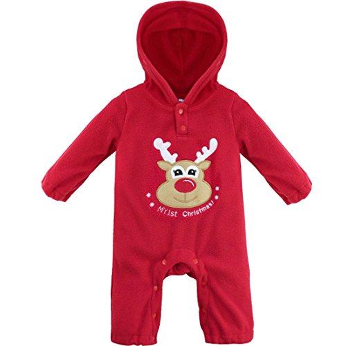 3090897c68895 YiZYiF Unisexe Bébé Grenouillères Halloween Noël Body Combinaison à Capuche  Barboteuse Romper Jumpsuit Pyjama Déguisement Fête