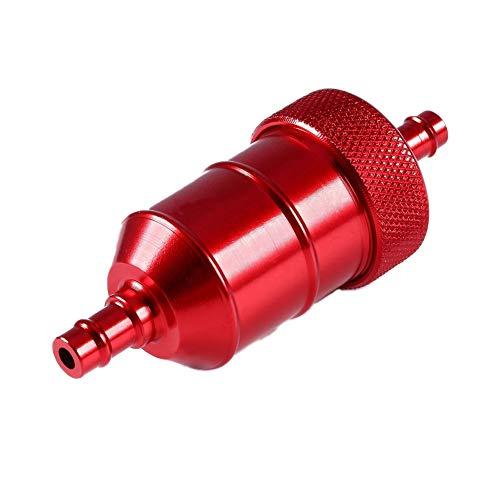 YSHtanj Kraftstofffilter für Motorrad, Quad, Geländewagen, Benzin, Benzin, Benzin, Benzin, Benzin, Benzin, Filter, Reiniger für Motorrad, Quad, Geländewagen, Rot rot -