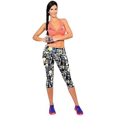 Fortan Vita alta yoga di forma fisica di sport pantaloni stampati Stretch ritagliata Leggings