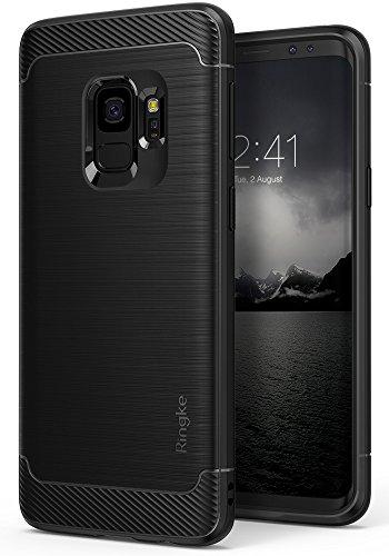 Cover Samsung Galaxy S9, Ringke [ONYX] Durevolezza Flessibile Antiurto Fibra di Carbonio SM-G960F Doppia SIM [Supporta la Carica Wireless] - Nero (Black)