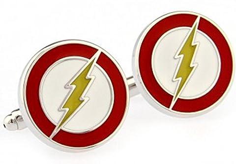 Boutons de manchette super héros, Lightening The Flash, Taille Unique