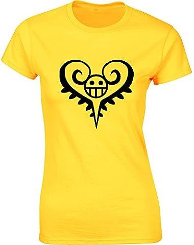 Trafalgar D Water Law, Mesdames T-shirt imprimé - Daisy jaune/Noir XL = 92-97cm