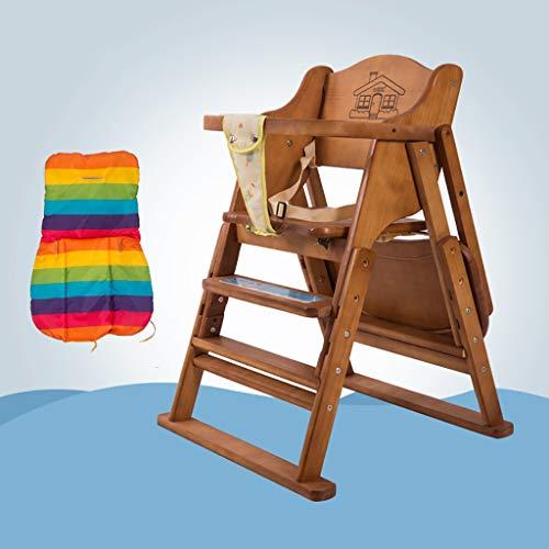 ZLMI Massivholz Baby Stuhl Multifunktionale Tragbare Klapp BB Hocker Essens Sitz 0-6 Jahre Alt...