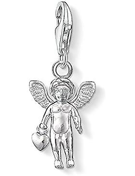 Thomas Sabo Damen-Anhänger Engel mit Herz 925 Silber - 0862-001-12