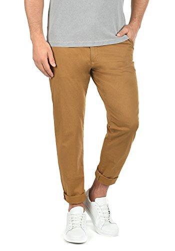 !Solid Machico Herren Chino Hose Stoffhose Mit Gürtel Aus Stretch-Material Regular Fit, Größe:W33/34, Farbe:Cinnamon (5056) Stretch-herren-fleece
