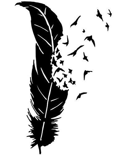 Feder Vögel-Girly Aufkleber Grafiken Benzin Gap Auto bumper Kofferraum Tattoo -
