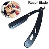 Wildlead Men Straight Edge Razor Steel Folding Shaving Barber Hair Removal Tools
