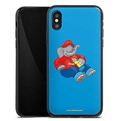 Apple iPhone X Silikon Hülle Case Schutzhülle Benjamin Blümchen Fanartikel Merchandise Beste Freunde Silikon Case schwarz