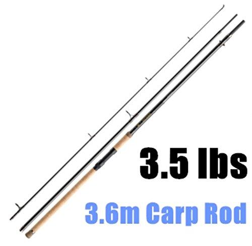 Alta calidad 3.6m con mango de corcho de pesca para la pesca de carpas 3sección pesca ROD alto carbono caña de pescar carpas