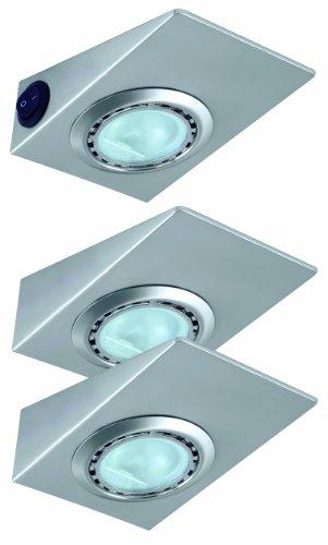 Nice Price 3505 Home&Office Keil Unterschrankleuchte mit Schalter 3x20W G4 Eisen gebürstet 230/12V Niedervolt Küchenbeleuchtung 20 Keil