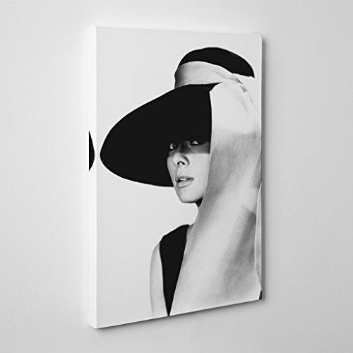 """Arty Pie Audrey Hepburn 6"""" Canvas Print, Multi-Colour, 24 x 16-Inch/60 x 40 cm"""