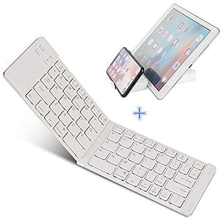 IKOS Ultra-Slim tragbare faltbare Bluetooth 3 Tastatur [QWERTY German Layout] für iOS / Windows-Android-Geräte: iPhone 7 7 6s 6 Plus, Samsung, iPad Pro / Air / Mini, Smartphone, Tablets