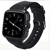 AXDNH Männer Smart Watch Sports Positionierung Bluetooth-Kommunikation Herzfrequenzmonitor Pedometer kann Telefon WiFi-Netzwerk HD-Kamera Musik Spielen Smart Armband anrufen,Black
