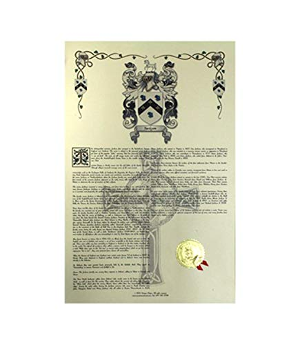 abiera Wappen, Familienwappen und Namen Geschichte–Celebration Scroll 11x 17Hochformat–Spanien Origin