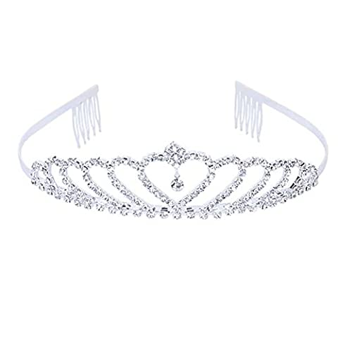 iShine Wedding Flower Crytal Rhinestones Bridal Jewelry Hair Clip Comb