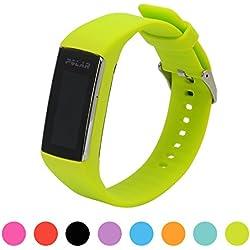 Correa de repuesto para pulsera de actividad Polar A360 Smart Watch iFeeker, correa de silicona y goma para la pulsera de actividad A360 (solo la correa, no incluye el reloj), lima