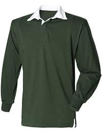 Front Row Herren Sport Rugby Shirt, Langarm