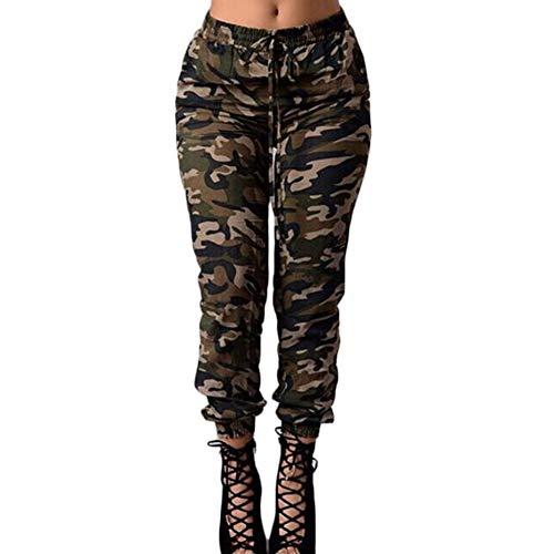sito affidabile 76a13 b9850 LAIKETE Pantaloni Militare Donna Largo Vita Alta con Tasche Laterali  Pantalone Camouflage Ragazza Baggy Hip Hop Harem Pants Moda Leggins da  Danza ...
