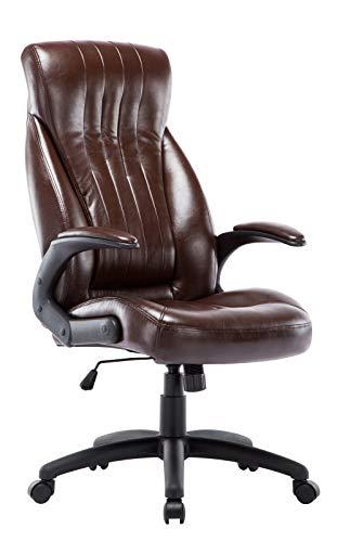 IntimaTe WM Heart Computerstuhl aus Kunstleder, Ergonomischer Bürostuhl, Langlebiger Chefsessel 360 Grad drehbar (Braun)