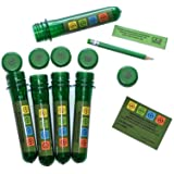 geo-versand 5 x Petling 13 cm + 5 x waterdichte logboeken + pen + sticker complete set pakket geocaching Cache verstopplaats