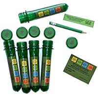 5 x PET 13 cm 5 Waterproof Log Book + Pen + Sticker Complete Set Geocaching CACHE Hide Green 13 cm