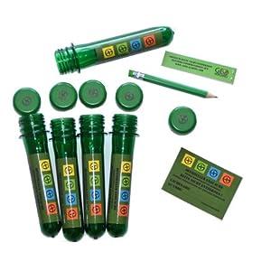 geo-versand 5 x Petling 13cm + 5 x wasserfeste Logbücher + Stift + Aufkleber komplett Set Paket Geocaching Cache…