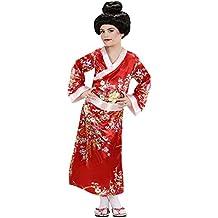 Geisha Disfraz Pequeño 7.5 años de los niños (128cm) para Oriental del vestido de lujo de China