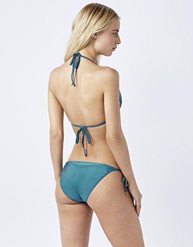 Accessorize Damen Selena seitlich gebundene Bikinihose Blau