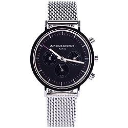Jean Louis Scherrer Unisex Quartz Watch Analogue Display and Stainless Steel Strap W2750B