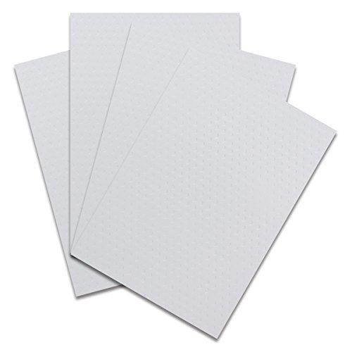 Carton A4 Chevrons 20 Bogen Weiß