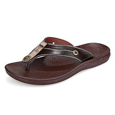 Chaussons & amp pour hommes, été Comfort PU extérieur Brown Sandales noires sandales US7 / EU39 / UK6 / CN39