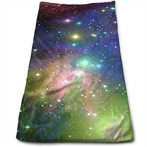 ewtretr Asciugamani Viso-Mani, Space Stars & Galaxy Swirls Multi-Purpose Microfiber Towel Ultra...