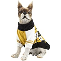 YiJee Mascota Halloween Suéteres De Punto Cachorro Perro Cálido Ropa Suéter Amarillo XL