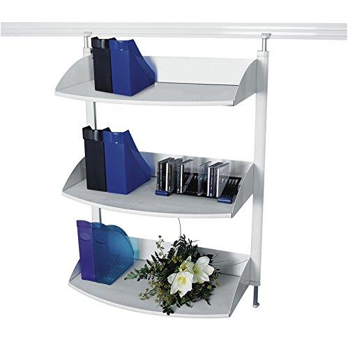 Legamaster 7-325100 Bücherregal für Legaline Dynamic Wandschienensystem, 3 verstellbare Böden, weiß (Verstellbare Regale Bücherregal)