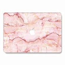 MacBook Air 13 Inch Case 2018 Release A1932 - AQYLQ Plastic Hard Case Rubber Coated Protective Cover for Apple MacBook Air 13 Inch with Retina Display fits Touch ID - Pink Marble