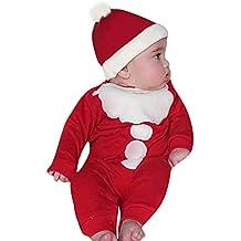 Amazon.es: gorro papa noel bebe - Rojo